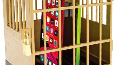 Photo of Cell Phone Jail With Lock & Keys