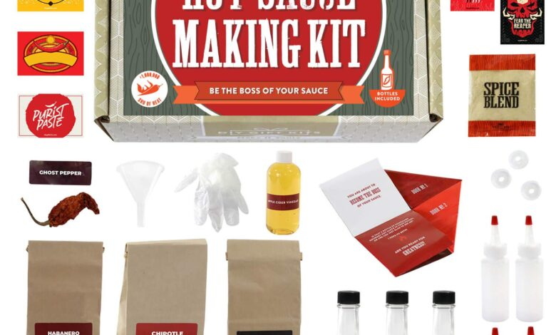 do it yourself hot sauce making kit