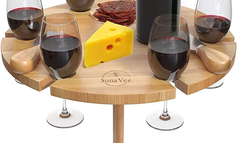 amazon.com - portable wine picnic table